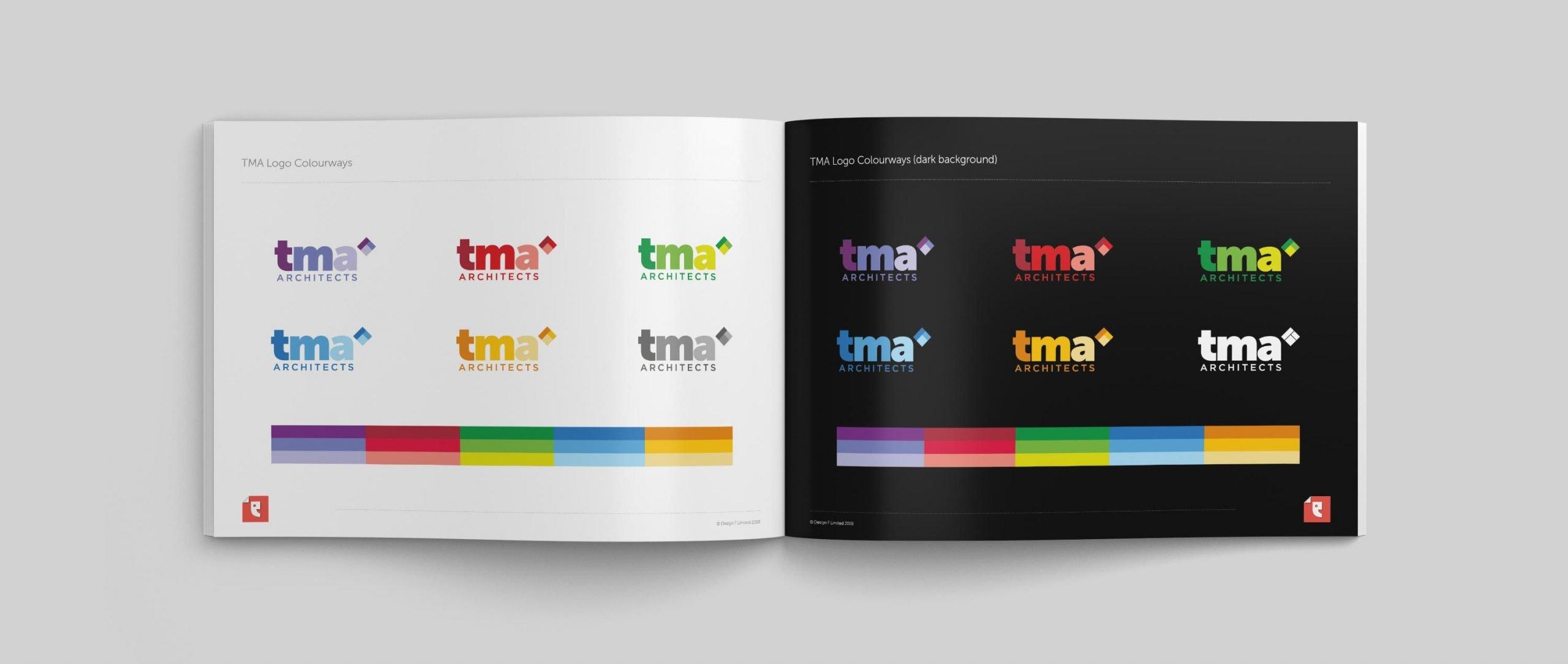 TMA Architects Logo Colourways